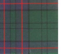Lockhart tartan was designed by the Chief in 1996. It has been officially approved by the Lord Lyon and recorded in the Lyon Court books. Its design reflects the family connection with the Macdonalds of Clanranald.  Tartan  is  made in the  Borders  town  of  Selkirk, Scotland.