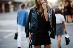 all black leather #leather #black #streetstyle