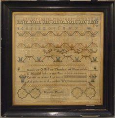 "An early 19th century Needlework Sampler by ""Harriot Plunkett, 1817"""