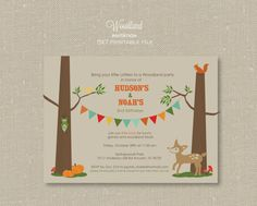 Woodland Party Invitations by jaymemarie on Etsy