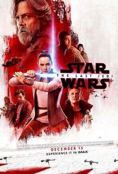 New Star Wars: The Last Jedi promotional light side IMAX poster.