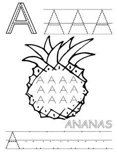 Pro Šíšu Kids Learning Alphabet, Preschool Worksheets, Diy And Crafts, Classroom, Lettering, Activities, Writing, Alphabet, First Day Of Class