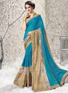 Buy Titillating Net Classic Designer Saree