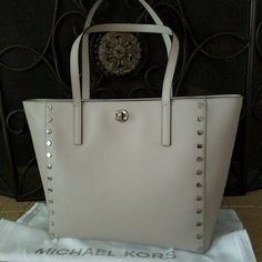 68c4d2e6afde Michael kors Large Tech Tote Studded Laptop Tote, Michael Kors Collection, Michael  Kors Jet
