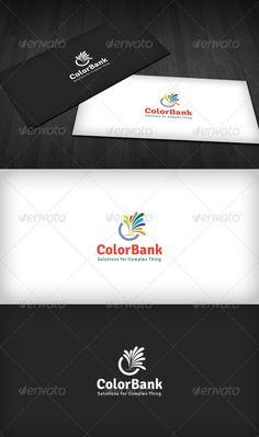 Color Bank  Logo Design Template Vector #logotype Download it here: http://graphicriver.net/item/color-bank-logo/3310317?s_rank=1435?ref=nexion