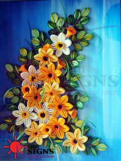 Quilled Floral Swag - by: Haru Eco Design - FB