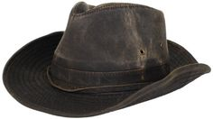 425322ff040 Dorfman-Pacific Weathered Cotton Outback Hat With Chin Cord at Amazon Men s Clothing  store  Sun Hats