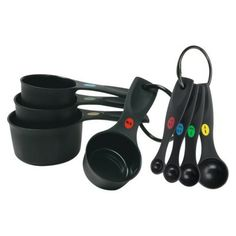 OXO Plastic Measuring Cups and Spoon set - Black Target $10