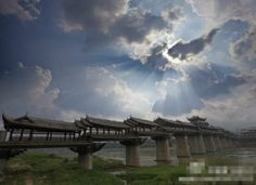 Ancient covered bridge in Chongqing