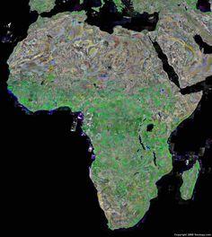 Africa satellite photo