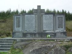 Karmichael Memorial - The Kilmichael Ambush (Luíochán Chill Mhichíl) was an ambush near the village of Kilmichael in County Cork on 28 November 1920 carried out by the Irish Republican Army during the Irish War of Independence. Thirty-six local IRA volunteers commanded by Tom Barry killed seventeen members of the RIC Auxiliary Division. The ambush was politically as well as militarily significant. It occurred one week after Bloody Sunday, marking a profound escalation in the IRA campaign.