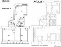 sauna,olohuone,keittiö,makuuhuone,kylpyhuone