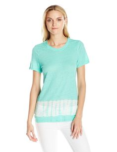 Two by Vince Camuto Women's Short-Sleeve Tie-Dye Radius Linen T-Shirt >>> Insider's special review you can't miss. Read more  : Fashion