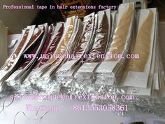 Professional tape in hair extensions factory, produce tape in extensions for many hair salons and beauty  store, can produce according to your request, also can produce your own package, our factory do wholesale business, accept sample order to test our quality, welcome to contact Qingdao Unique Hair Products Co.,Ltd. to get your wholesale price, sales@uniquehairextension.com Whatsapp: +8613553058361