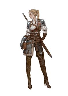 Pin by Dennis Roy on Character Art in 2020 Fantasy Character Design, Character Design Inspiration, Character Concept, Character Art, Dnd Characters, Fantasy Characters, Female Characters, Female Armor, Armor Concept