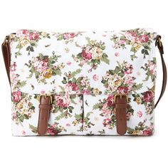 FOREVER 21 Floral Canvas Messenger Bag ($25) ❤ liked on Polyvore featuring bags, messenger bags, accessories, courier bags, handbags totes, travel messenger bag and floral tote bag
