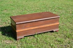 Vintage Wood Blanket Chest Primitive Handmade by PanchosPorch, $295.00
