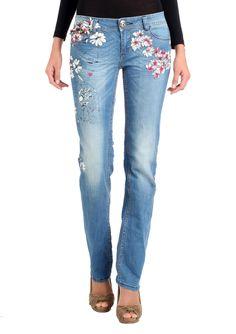 736d728e0 DESIGUAL Tropic Denim Pant Floral Jeans