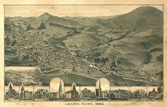 Adams Antique Map Massachusetts 1882 — MUSEUM OUTLETS