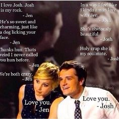 They're will always be my ultimate OTP even if I could live a thousand lifetime.. Haha I Love JOSHIFER—Always and forever!!!!cr: _catching_joshifer_ (via Instagram) JOSHIFER #jlaw #jennifer #jenniferlawrence