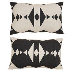 Hopi tyyny, harmaa/valkoinen ryhmässä Tekstiilit / Viltit & Koristetyynyt / Koristetyynyt @ ROOM21.fi (128991)