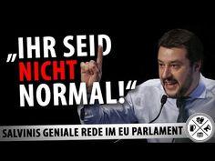 """""""Ihr seid nicht normal"""" - Großartige Rede von Matteo Salvini!"""