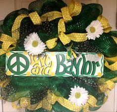 Baylor wreath College wreath Baylor Bears