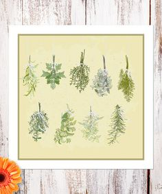 Love this Fresh Herbs Print by Heart of the Home on #zulily! #zulilyfinds