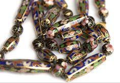 Antique Jewelry, Vintage Jewelry, Vintage Necklaces, Enamel Jewelry, Vintage Pins, Fine Jewelry, Unique Necklaces, Beautiful Necklaces, Beaded Necklaces