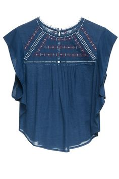 READY TO WEAR Women knitted t-shirt BLUE