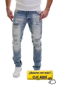 MERISH Hombres Vaqueros Pantalones ver destruido... #pantalones