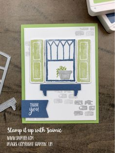Window Box Flowers, Flower Boxes, Current Catalog, Window Cards, My Stamp, Stamping Up, Homemade Cards, Stampin Up Cards, Your Cards