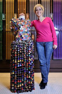 The Art of Recycling: Dress made with Nespresso capsules