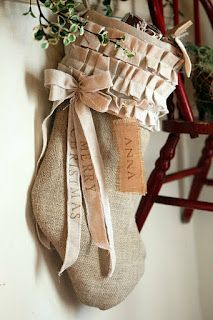 Burlap Stocking Ideas