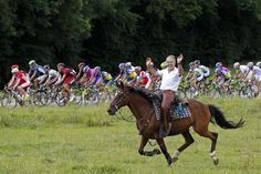 July 8 Tour de France images - Google Search Everyone wants to get in on the Tour!