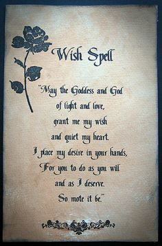 9 Best Wish Spell images in 2016 | Book of Shadows, Witchcraft