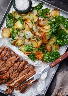 Marinated pork tenderloin with the wonderfully good potato salad fits perfectly both on the grill and during midsummer. Wine Recipes, Cooking Recipes, Healthy Recipes, Grilled Pork Loin, Marinated Pork, Easy Chicken Dinner Recipes, Good Food, Yummy Food, Food Platters