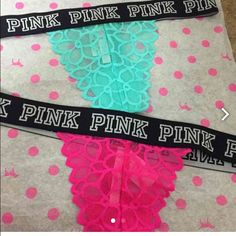 Victoria secret thongs 2-Victoria secret pink thongs Pink & Aqua PINK Victoria's Secret Intimates & Sleepwear Panties