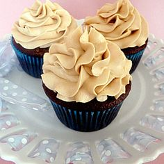 Mocha Cupcakes Recipe with Espresso Buttercream Frosting | Brown Eyed Baker