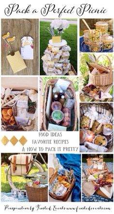 Pack a Perfect Picnic Lots of great ideas on packing for the perfect day…