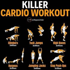 Mens Cardio Workout, Weight Training Workouts, Gym Workout Tips, Dumbbell Workout, At Home Workouts, Bowflex Workout, Exercise Cardio, Week Workout, Aerobics Workout