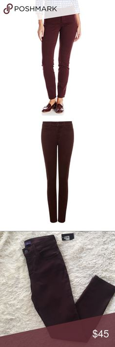 """✨NWT✨ NYDJ Alina Legging Jeans Brandy Wine 2P NEW WITH TAGS Burgundy """"Brandy Wine"""" colored leggings jeans with Lift Tuck technology. Inseam: 29"""", Rise: 9.5"""". Two minor snags above back pockets, as shown in photo. ✨OFFERS WELCOME✨ NYDJ Jeans Skinny"""