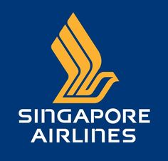 """Singapore Airlines logo: The iconic SA logo includes the """"bird"""" (also known as the Silver Kris) logo. The  bird has remained unchanged since its inception, but the logotype and stripes used since 1972 were changed in 1988 to the ones still in use today."""
