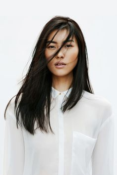 Liu wen for zara lookbook april 2012