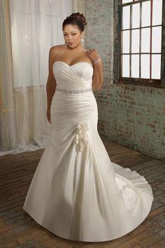 plus size wedding dress- mori lee