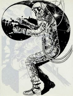 Mike Hinge - Astronaut, 1980. / The Science Fiction Gallery