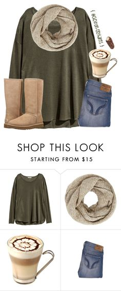 """Spammmmmmm"" by chevron-elephants ❤ liked on Polyvore featuring H&M, John Lewis, Hollister Co. and UGG"