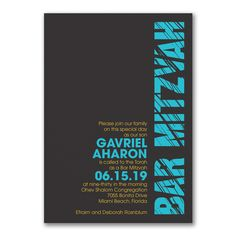 40% Off Invitations and Save the Dates  |Mitzvah Lines - Invitation