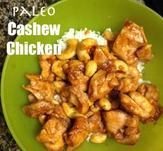 Paleo Cashew Chicken from Hesitantly Healthy - MADE THIS LAST NIGHT. so so so so yummy!