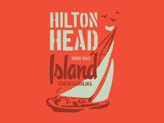 Hilton Head designed by Benjamin Garner. Connect with them on Dribbble; Lettering Design, Logo Design, Graphic Design, Study Design, Badge Design, Design Inspiration, Branding, Neon Signs, Apparel Design